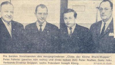 Gründungsvorstand 1969